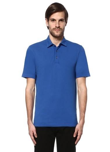 Canali Polo Yaka Tişört Mavi